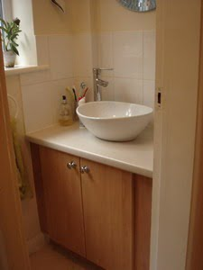 Cloakroom Downstairs Toilet on open kitchen floor plan
